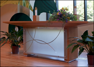 Contemporary Chancel Furniture Glass and wood