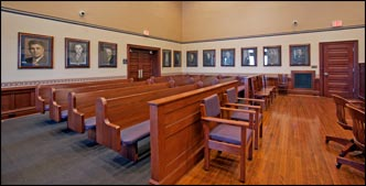 Courtroom benchs, seating and Chairs