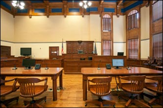 Courtroom lawyers tables