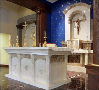 Pulpet, Solid Italian Marble Chancel Furniture